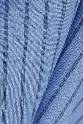 SIMON MILLER Oriska knotted striped linen-gauze slip dress
