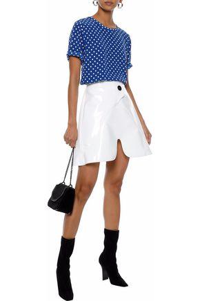 EQUIPMENT Brynn polka-dot washed-silk blouse