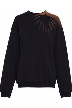 MAISON MARGIELA Oversized printed cotton-terry sweatshirt