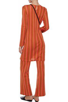 SIMON MILLER Capo striped cotton-blend mini dress