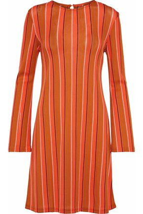 SIMON MILLER Capo striped cotton-blend mini dress