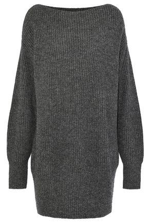 THEORY Ribbed wool-blend mini dress