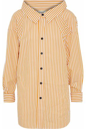 SIMON MILLER Tabor striped cotton-poplin shirt