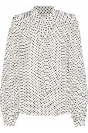 MAISON MARGIELA Polka-dot silk crepe de chine blouse
