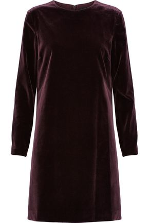 THEORY Wynter cotton-blend velvet mini dress