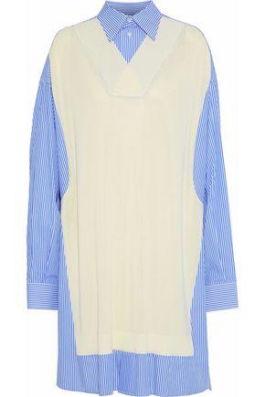 MAISON MARGIELA Knitted and striped cotton-blend poplin shirt dress