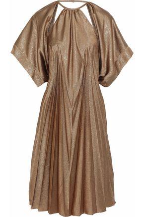 MAISON MARGIELA Cutout pleated lamé dress