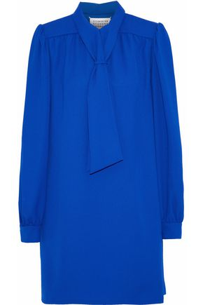 MAISON MARGIELA Tie-front crepe mini dress