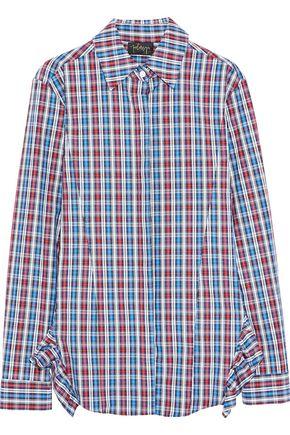 PETERSYN Gretchen ruffled striped cotton-poplin shirt