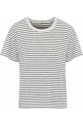 MONROW Striped stretch-jersey T-shirt