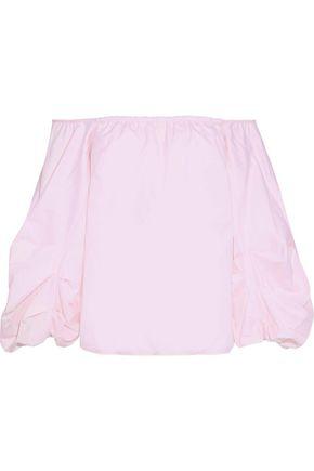 PETERSYN Hannah off-the-shoulder cotton-poplin blouse