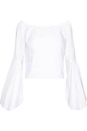 PETERSYN Checked cotton-poplin top