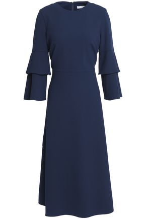 TIBI Stretch-crepe midi dress