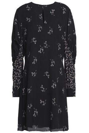 TIBI Floral-print crepe mini dress