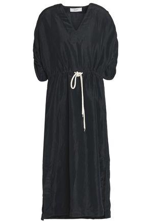 PRINGLE OF SCOTLAND Belted woven midi dress