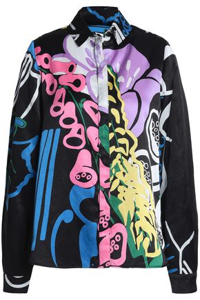 J.W.ANDERSON Floral-print cotton and silk-blend shirt