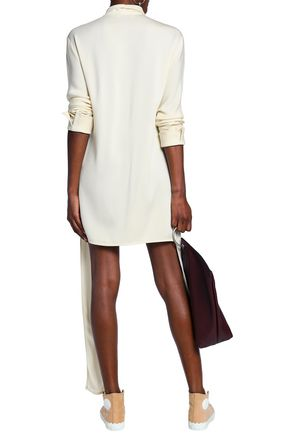 J.W.ANDERSON Draped crepe mini shirt dress