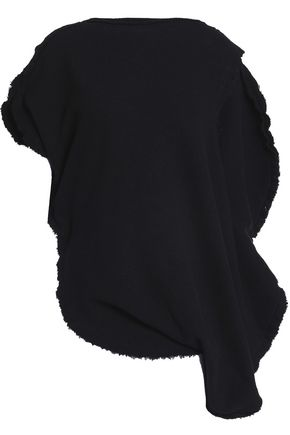 J.W.ANDERSON Asymmetric French cotton-blend terry top