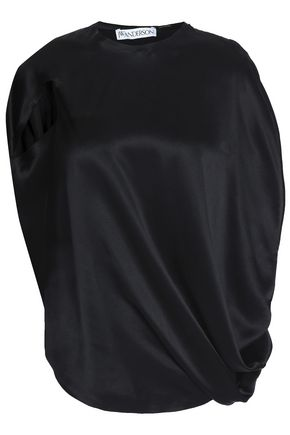 J.W.ANDERSON Draped silk-satin top