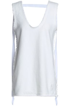 J.W.ANDERSON Strap-detailed French cotton-blend terry tank