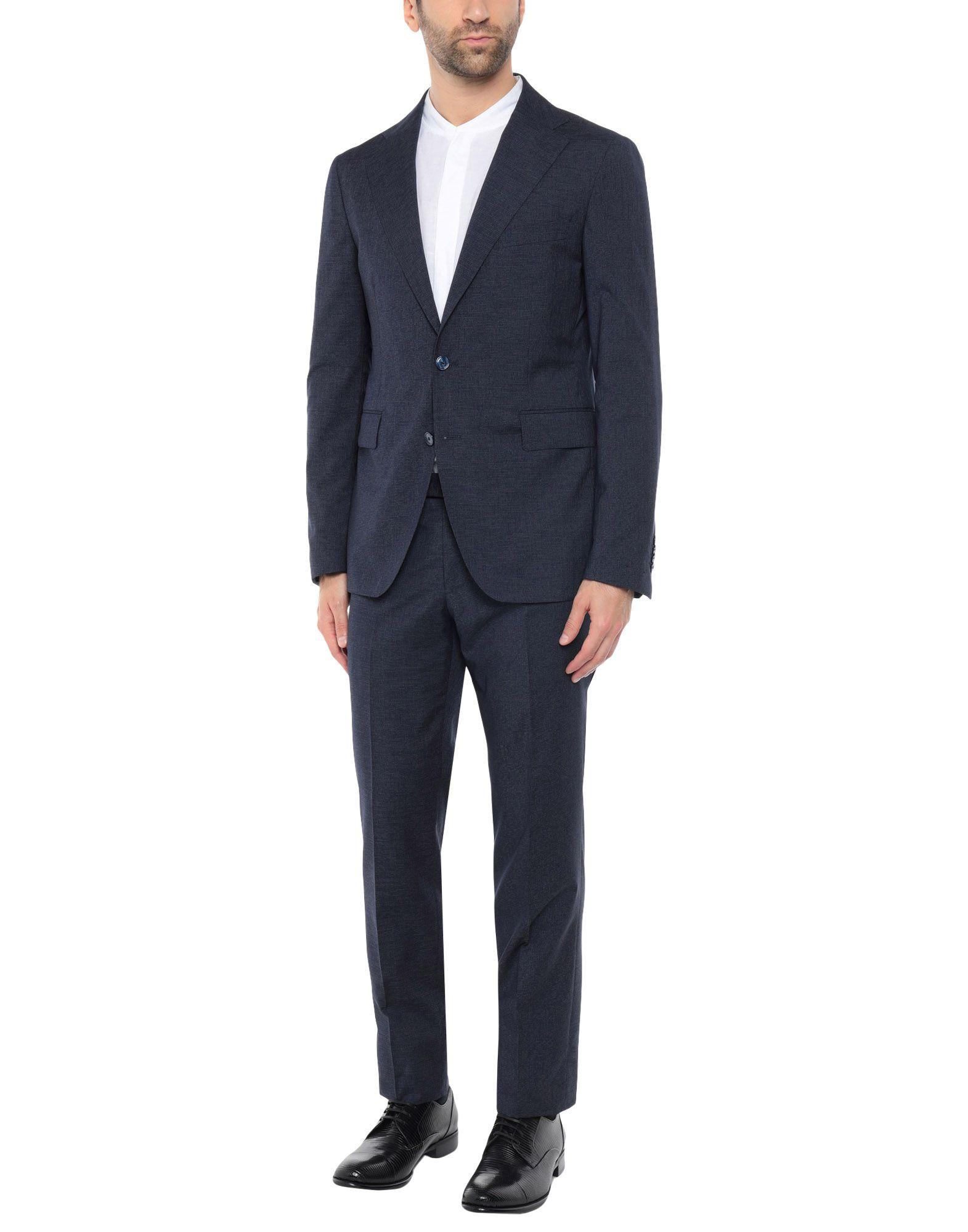 《送料無料》TAGLIATORE メンズ スーツ ダークブルー 50 スーパー100 ウール 96% / シルク 2% / ナイロン 2%