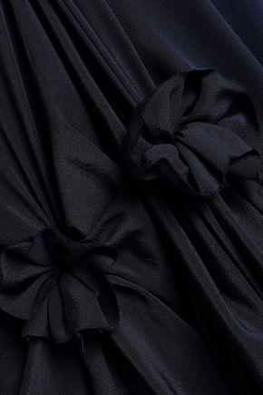J.W.ANDERSON Asymmetric knotted printed washed-silk midi slip dress