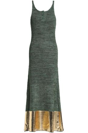 J.W.ANDERSON Coated knitted maxi dress