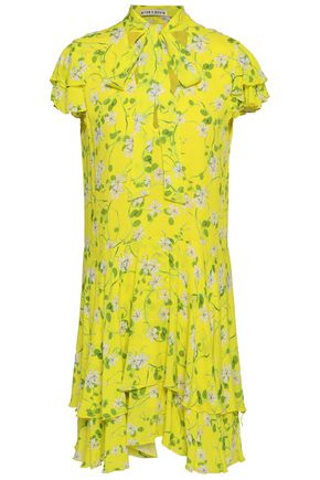 ALICE + OLIVIA Floral-print gauze mini dress