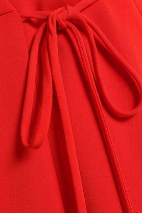 ALICE + OLIVIA Crepe mini wrap dress