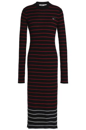 McQ Alexander McQueen Striped wool midi dress