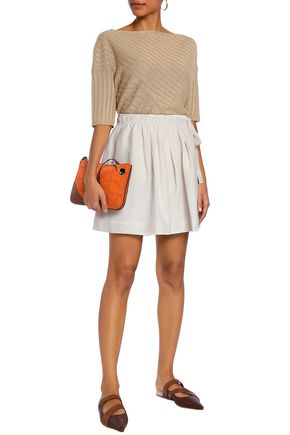 J.W.ANDERSON Leather-paneled linen and silk-blend shorts