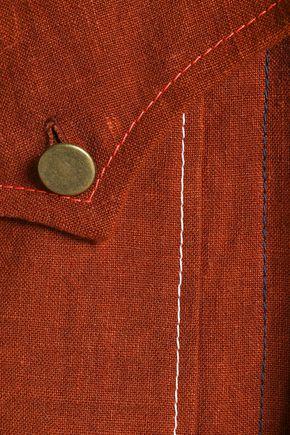 SONIA RYKIEL Tie-front linen dress