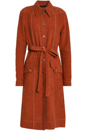 SONIA RYKIEL Tie-front linen dress