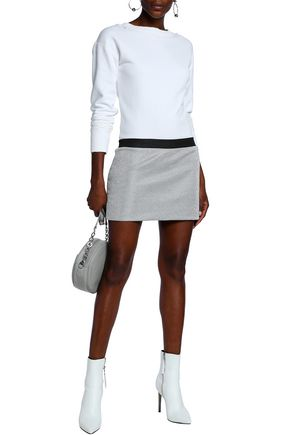 J.W.ANDERSON Distressed French cotton-terry and Lurex mini dress
