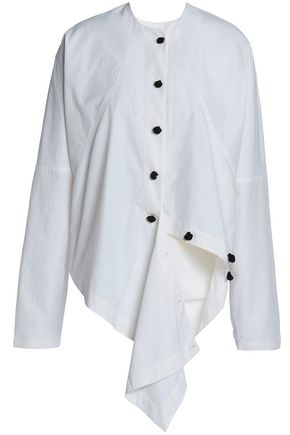 J.W.ANDERSON Draped cotton-poplin shirt