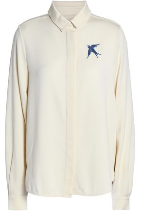 J.W.ANDERSON Embroidered satin-crepe shirt