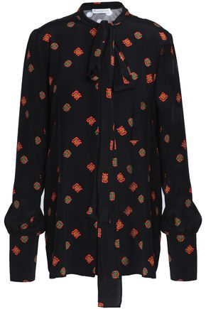 J.W.ANDERSON Pussy-bow printed crepe de chine blouse