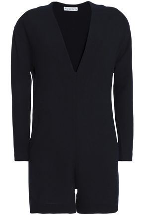 J.W.ANDERSON Wool-crepe playsuit