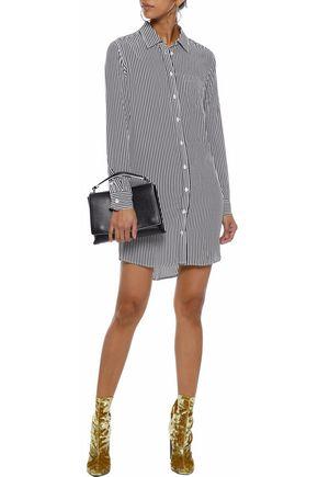 EQUIPMENT Brett striped washed-silk mini shirt dress