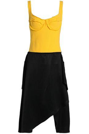 J.W.ANDERSON Sateen-paneled jersey dress