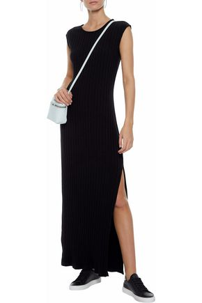 SIMON MILLER Tali ribbed Tencel-blend maxi dress