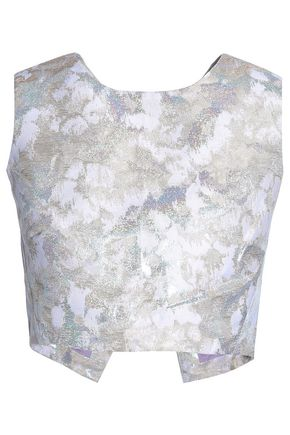 PERSEVERANCE Metallic brocade top
