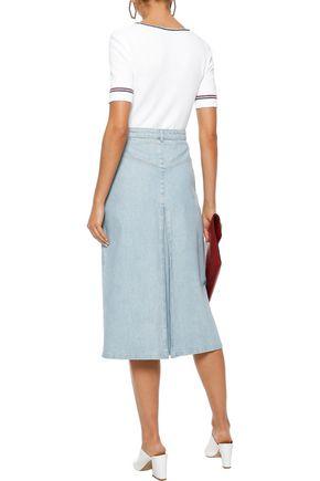 VANESSA SEWARD Bouclé-knit cotton-blend top