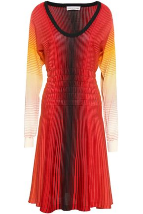 SONIA RYKIEL Dégradé striped silk dress