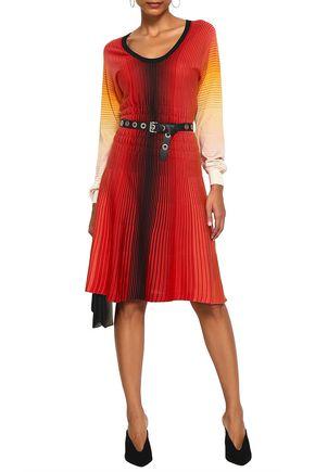 SONIA RYKIEL Dégradé striped silk dress