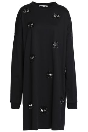 McQ Alexander McQueen Oversized embellished cotton-jersey dress