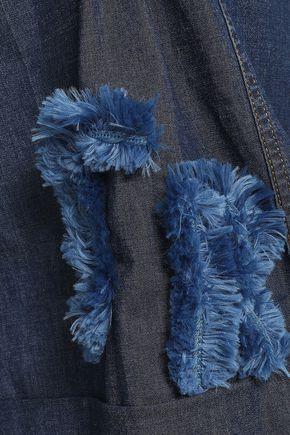 SONIA RYKIEL Cotton-blend chambray playsuit