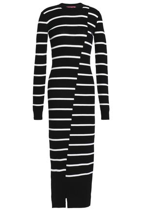 McQ Alexander McQueen Ribbed wool midi dress