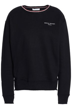 SONIA RYKIEL Printed French cotton-terry sweatshirt
