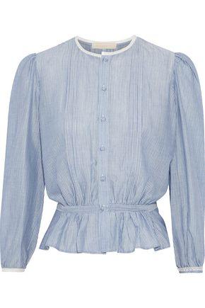 VANESSA BRUNO Ikola striped cotton and Tencel-blend blouse